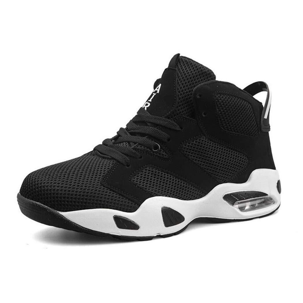 Zxcvb Basketball-Schuhe Air Cushion Stiefel hoch zu Helfen Rutschfest verschleißfesten Mesh Atmungsaktiv Ultra Light Sport Laufschuhe Herren Lovers Schuhe