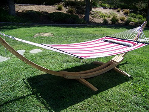 Petra Leisure 14 Ft. Natural Wooden Arc Hammock Stand + D...