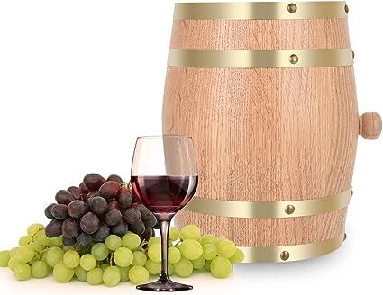 Botti di Rovere 1.5L Botti in Legno di Quercia da 1,5//3//5//10 Litri per la conservazione o linvecchiamento del Vino