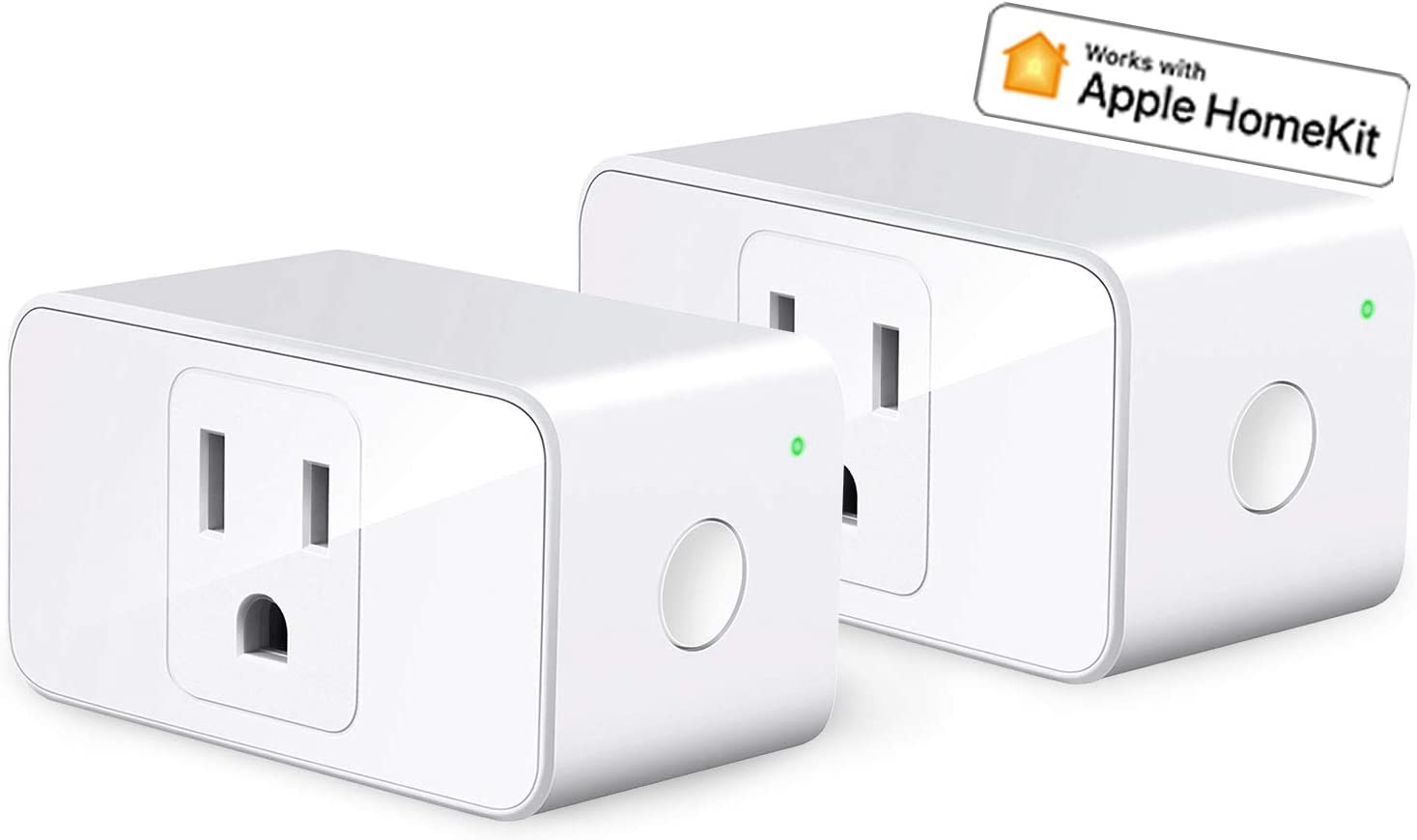 Apple HomeKit Smart Plug WiFi - Smart Outlet Works with Alexa, Google Home, Siri, Refoss Smart Socket with Timer Function, Remote Control, 16A, 2 Pack