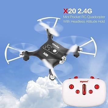uqiangbao Fit X20 2.4 G 4 CH Mini dron de Bolsillo RC Quadcopter ...