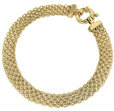 Carissima Gold Women's 9 ct Yellow Gold Bismark Bracelet of Length 19 cm ZZWIc2
