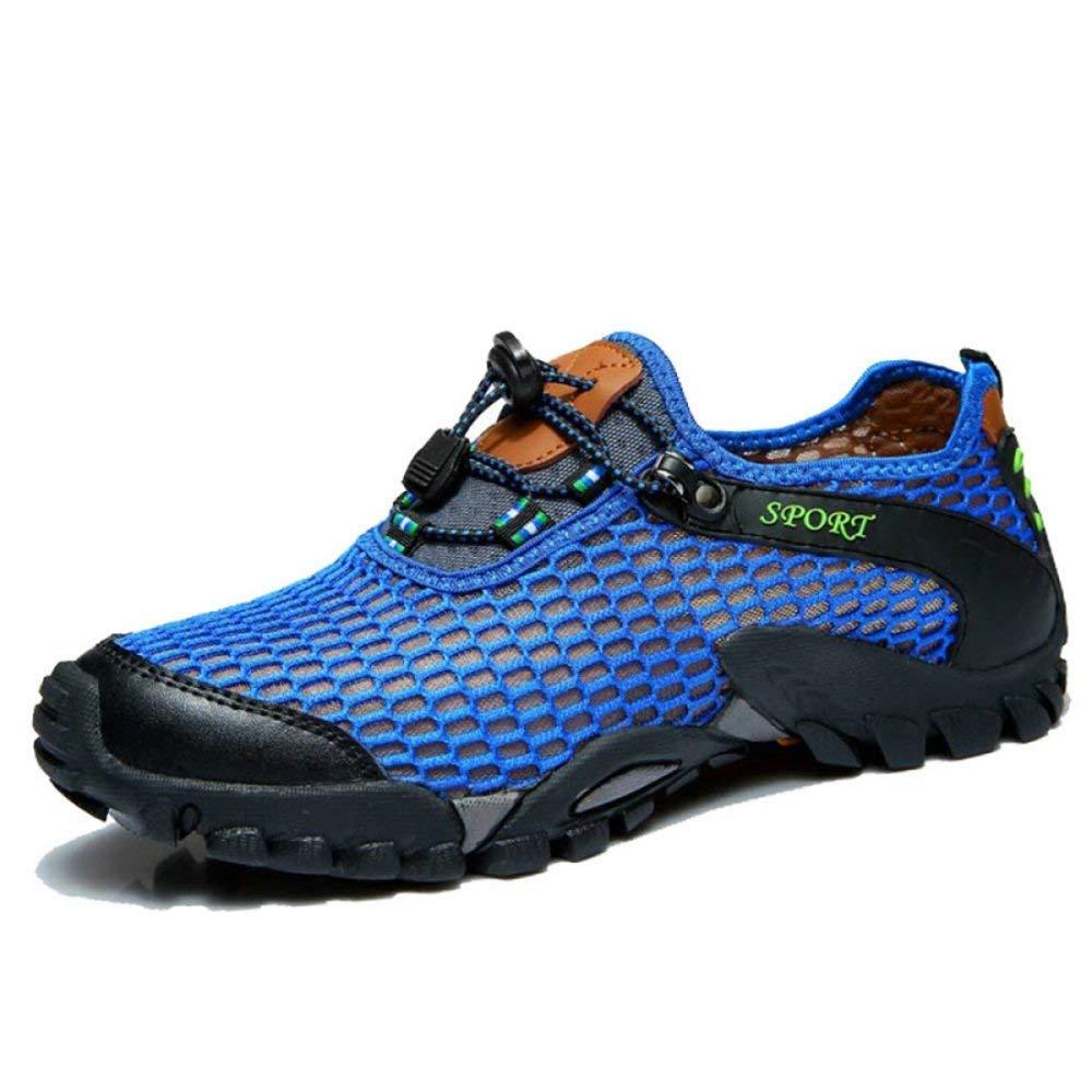 FuweiEncore Hohe Qualität Männer Und Frauen Sommer Outdoor Sandaleen Wasser Schuhe Amphibious Beach Schuhe Casual Sportschuhe Wanderschuhe Verbesserte Version (Farbe : Blau, Größe : 36EU)