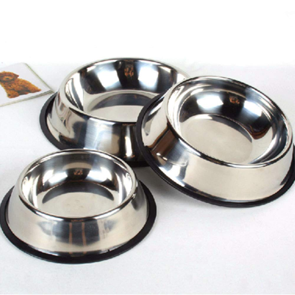 13.69.43.2inch Pet BowlStainless Steel Dog Bowl, Large and Medium Dog Rice Bowl, Single Bowl Very Good (Size   13.6  9.4  3.2inch)