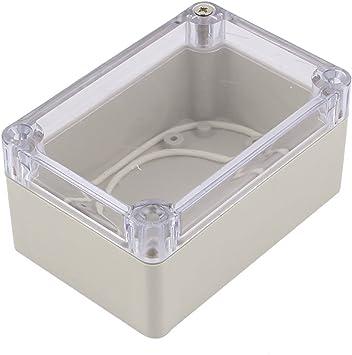 Plástico A Prueba De Polvo IP65 Tapa Eléctrico Caja De Derivación 100x68x50mm Transparente Gris: Amazon.es: Bricolaje y herramientas