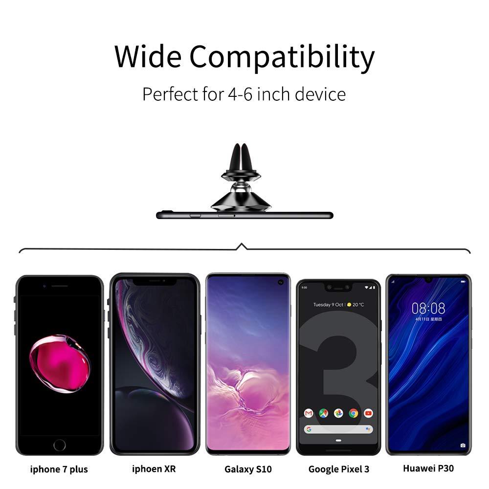 Durevole Magnetico Supporto per Telefono Porta Cellulare da Auto 360 Gradi di Rotazione per iPhone 8 7 Plus Samsung S9 S8 Huawei P30 P20 Mate 20 Lite Xiaomi ECC. Warxin Supporto Smartphone Auto