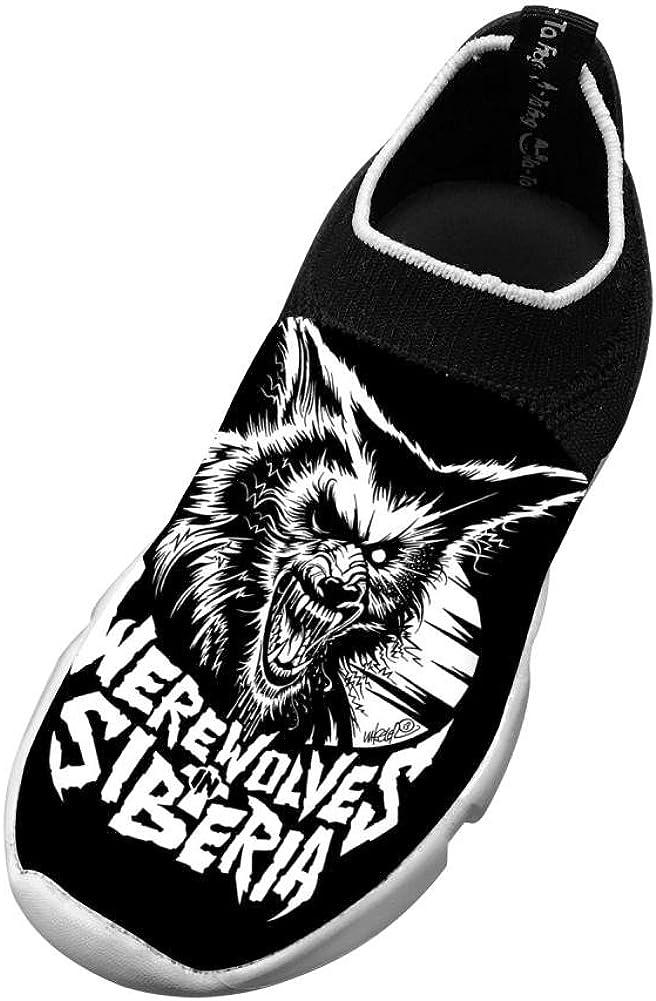 XieZbd Kids Not A Werewolf Funny Fly Knit Sneaker Shoes