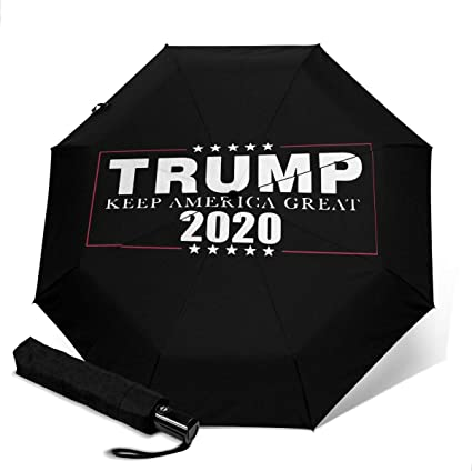 Amazon.com: Trump 2020 Keep America Great! Compact Travel Umbrella - Auto Open and Close Button: Sports & Outdoors