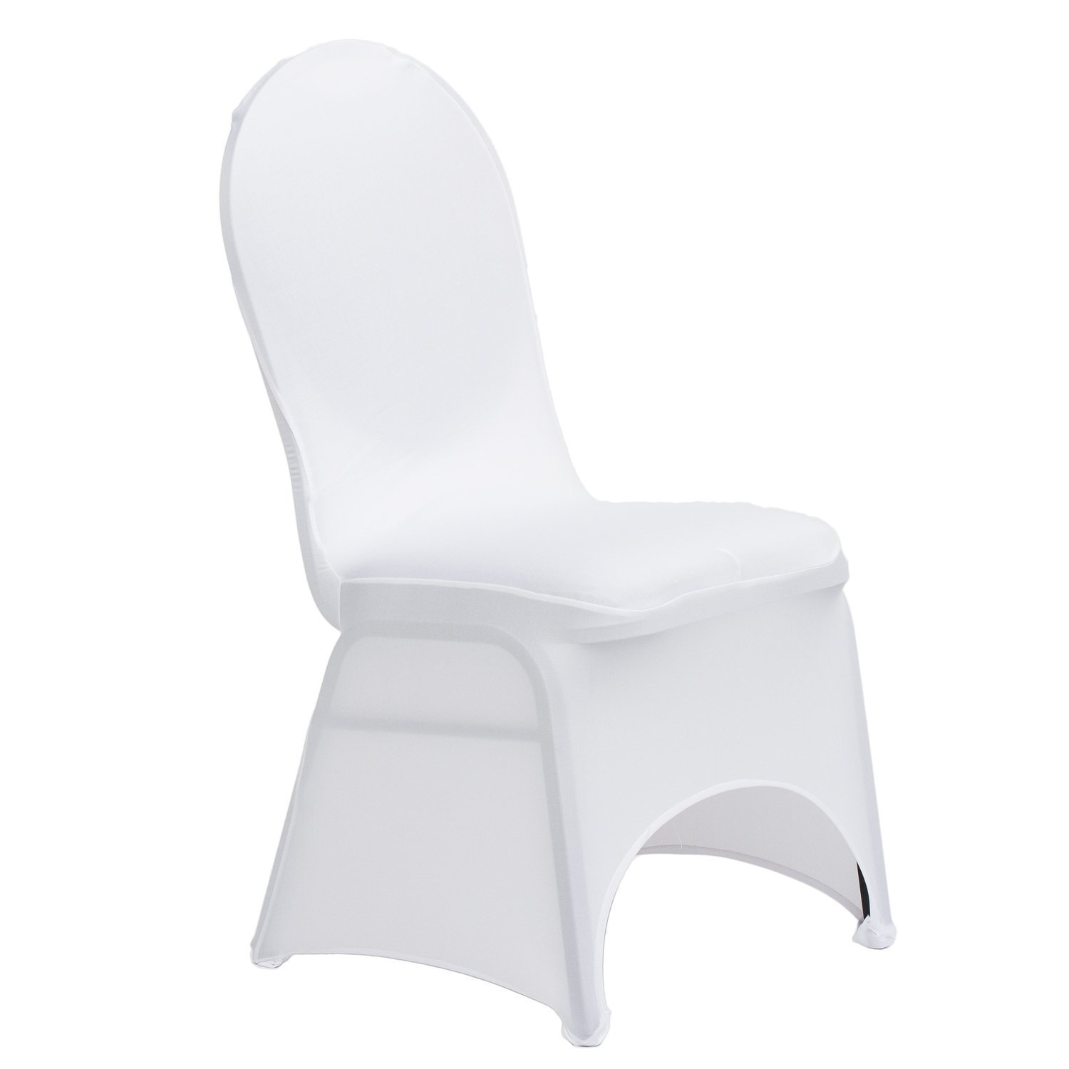 Amazon LinenTablecloth Stretch Banquet Chair Cover White
