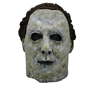 Michael Myers Mask Halloween 1.Kasien Halloween Mask Cosplay Michael Myers Melting Face Overhead