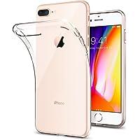 Spigen 043CS20479 Liquid Crystal für iPhone 8 Plus / 7 Plus Hülle, Transparent TPU Silikon Handyhülle Durchsichtige Schutzhülle Case Crystal Clear