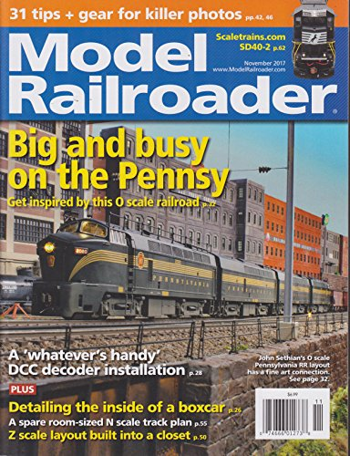 Model Railroader Magazine November - Decoder In Drop