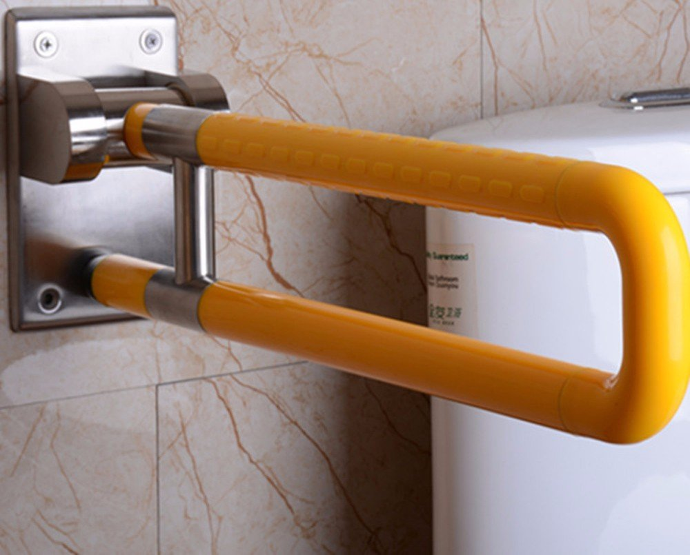 MDRW-Safety Handrail Turn Over The Toilet Armrest Barrier Bathroom Power Arm Old Man Toilet Armrest Bathroom Stainless Steel Old Man'S Armrest 600Mm