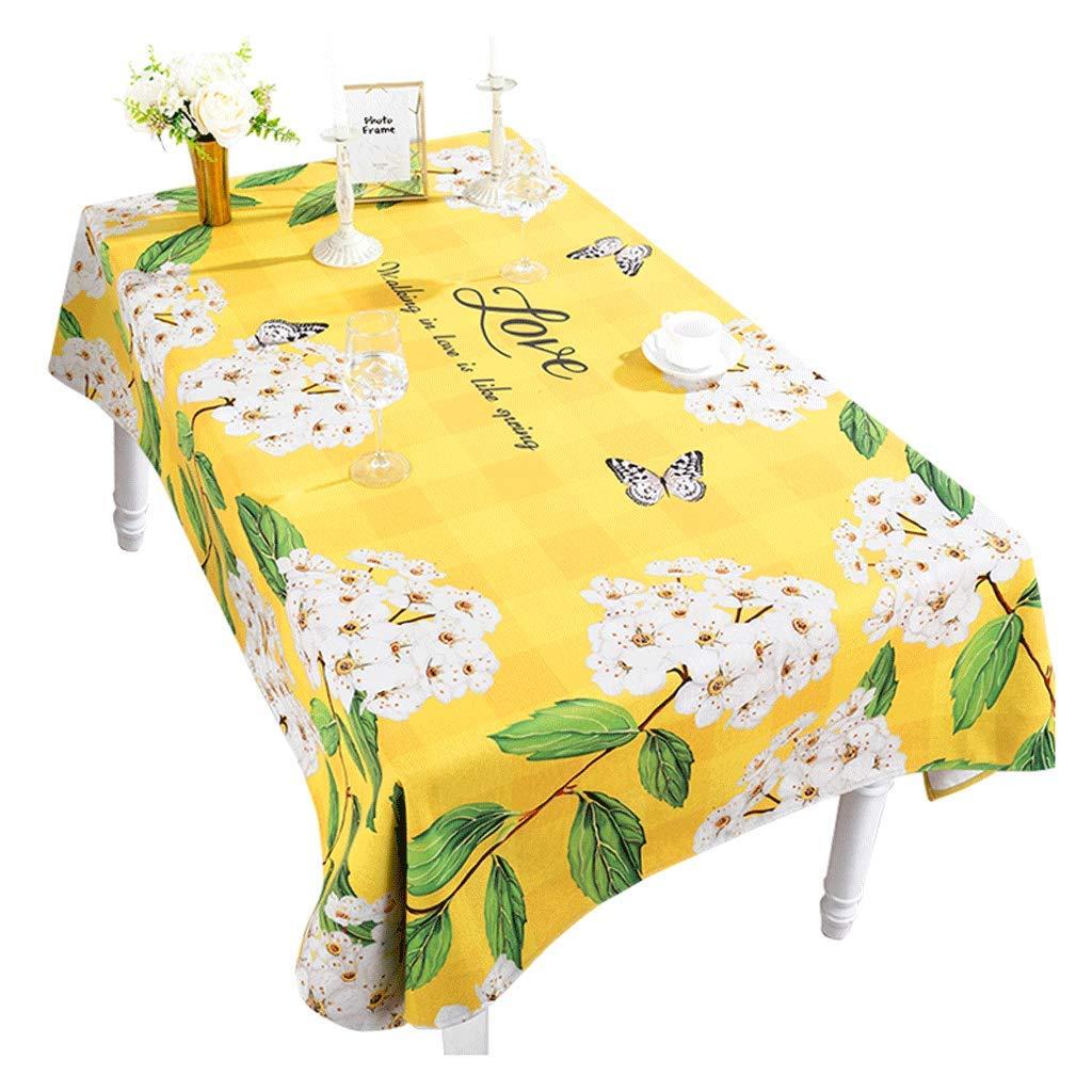 テーブルクロスアメリカの牧歌の花のテーブルクロスコットンとリネン小さな新鮮なリビングルームのコーヒーテーブルクロス長方形のテレビキャビネットのテーブルクロス (Size : 140*200cm) 140*200cm  B07SS2JSCG