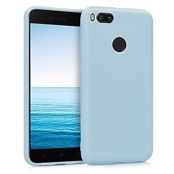 kwmobile Funda para Xiaomi Mi 5X / Mi A1 - Carcasa para móvil en TPU Silicona - Protector Trasero en Azul Claro Mate