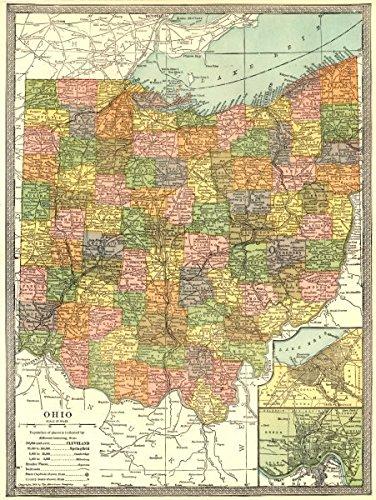 Ohio Antique Map - 2