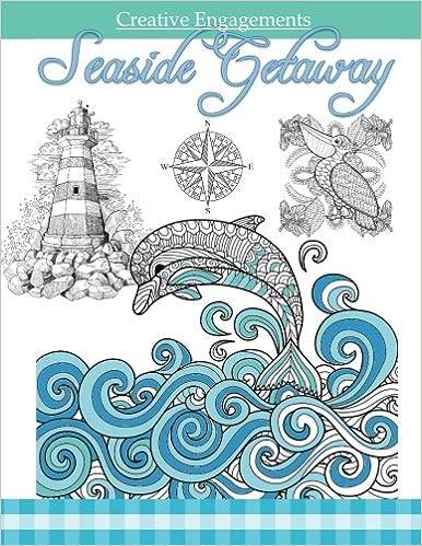 Amazon.com: Seaside Getaway: Marine Life Coloring Book ; Adult ...