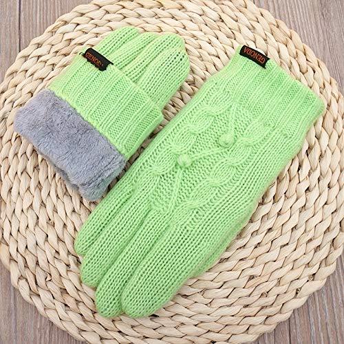 Touchscreen-Handschuhe, warme Handschuhe, Touch, Winter, Outdoor, Touch, Handschuhe, Sporthandschuhe, Einheitsgröße, Grasgrün 8a2cf0