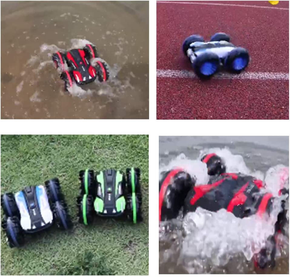 ZYMSD RC Boat/Cars Amphibious Water Car Waterproof Stunt Remote Control Vehicles 2.4Ghz 4WD Off Road Radio Controlled Truck Birthday Gift Red