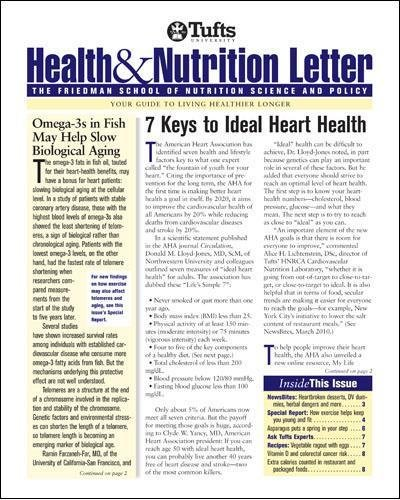 Tufts University Health & Nutrition Letter: Amazon.com: Magazines