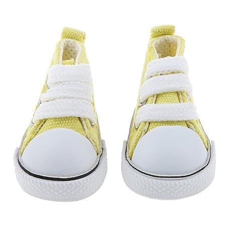 KESOTO Zapatillas de Lona Accesorios Traje de Vestir Mini para Muñecas Chicas Escala 1/6