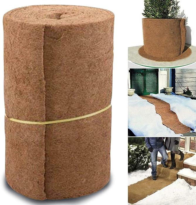 Flowerpot Basket Insulation Coconut Mat 60 x 85 cm, Coco-Fiber Liner Roll Patio Planter Inserts Liners for Home Ecological Plant Decor & Hanging Basket Plant Keep Moisture