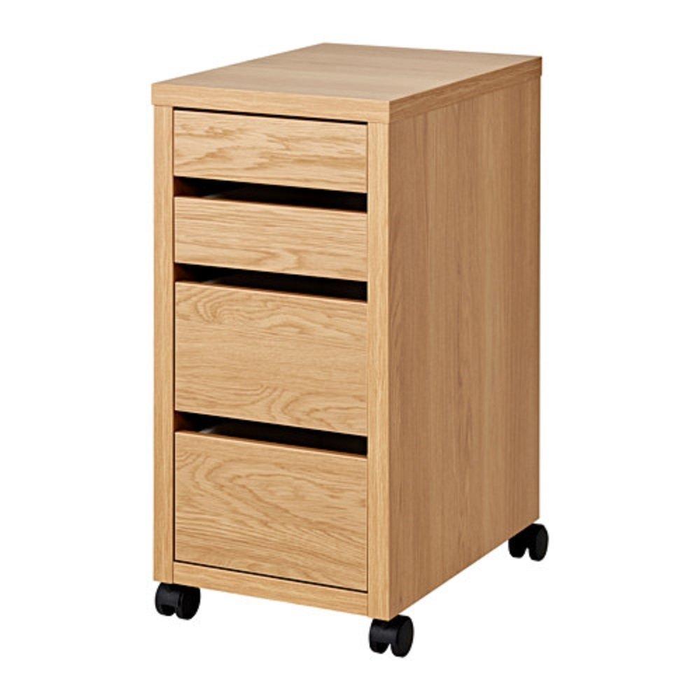 IKEA/イケア MICKE/ミッケ:引き出しユニット キャスター付き35×75cm オーク調 (503.950.56) B07BGSRVVV