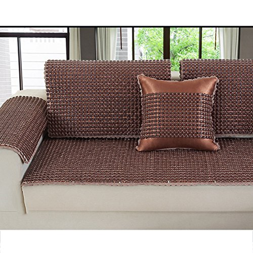 Sofa Cover Anti-Slip Wear Resistant Sofa Mat Cool Living Room All-Inclusive Mat Ceramic Mat 1/2/3 Seater Universal Cover For Summer,5050Cm by L&ZR