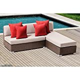 Ove LEADS 2 Piece Outdoor Lounge Seating Group with Cushions For Sale