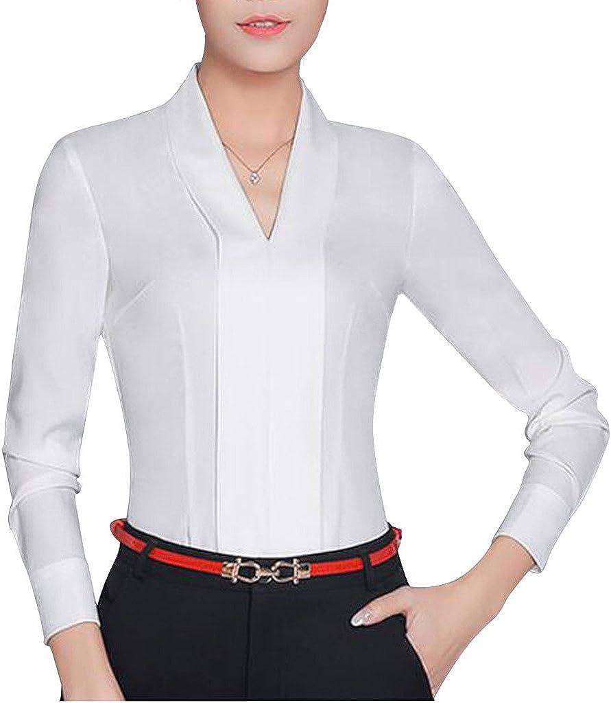 Double Plus Open Mail order cheap DPO Women's Super sale V-Neck Long Chiffon Sleeve Pullover