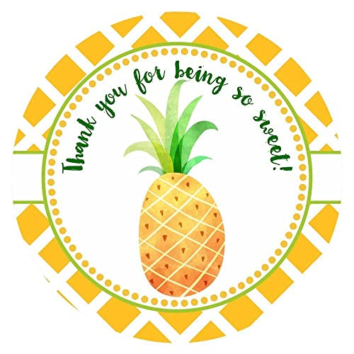 Thank you summer. Sweet pineapple sticker labels
