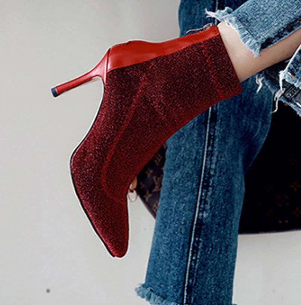 Shiney Damen 2018 Stretch Cloth Stiefel Mit Pailletten Wies Stiletto Stiletto Stiletto Dress Schuhe Modell Schuhe fff0ab