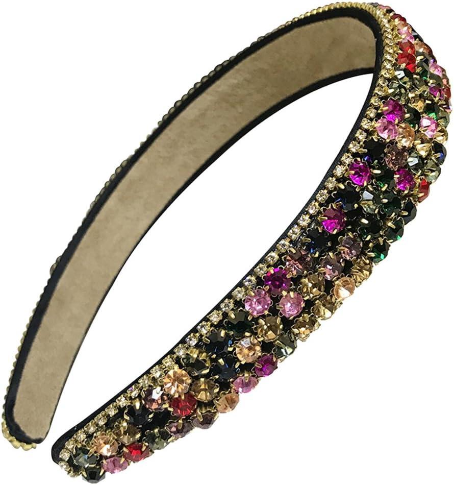 Frcolor - Diadema para el pelo con diamantes de imitación para mujer y niña