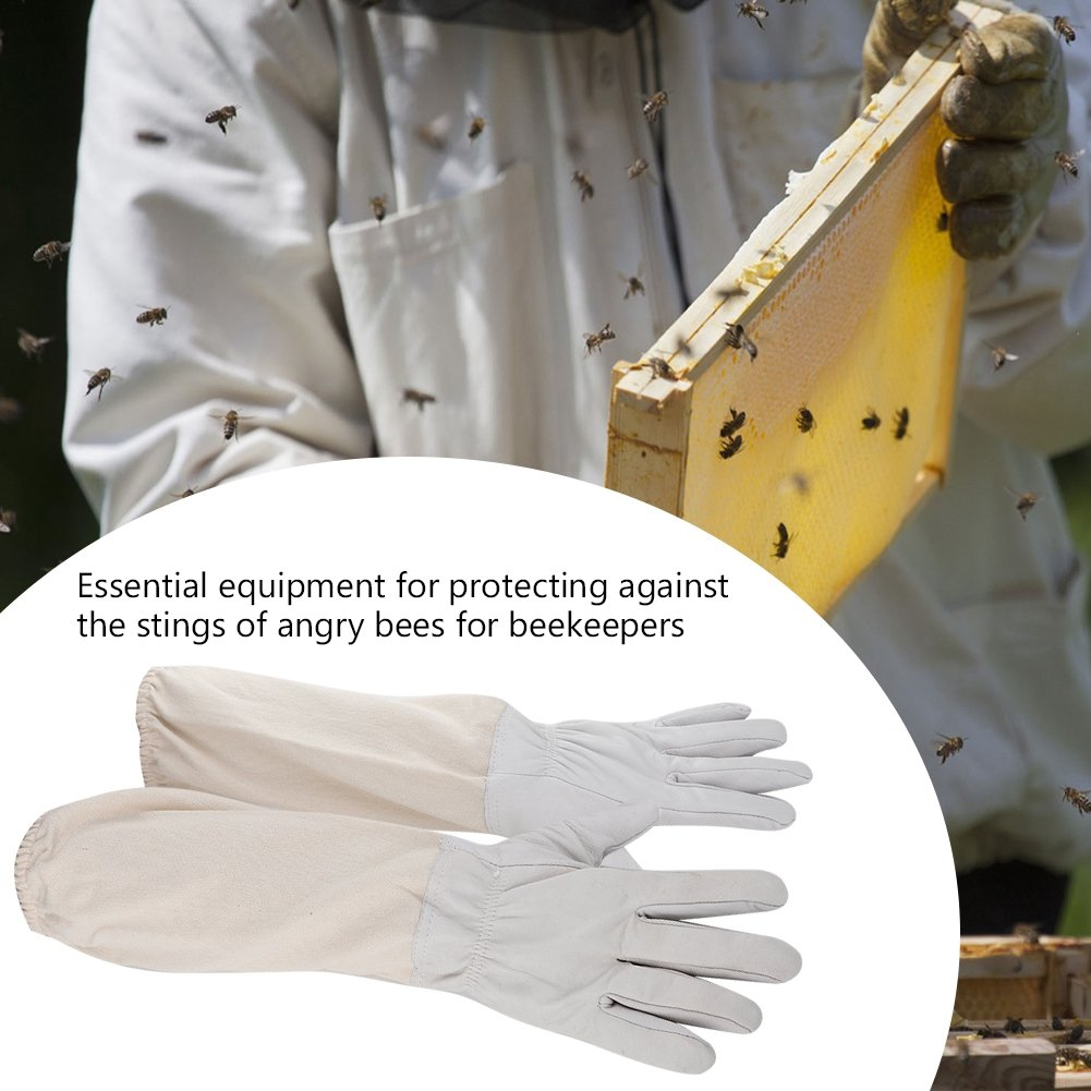 XL TOPINCN Apicultores Guantes de protecci/ón Duraderos Resistentes al Desgaste Guantes Largos de Manga Larga con pu/ño el/ástico Apicultores Herramienta de Trabajo
