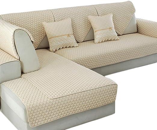 HiiGlife Fundas de sofá de algodón Toalla de sofá Antideslizante ...
