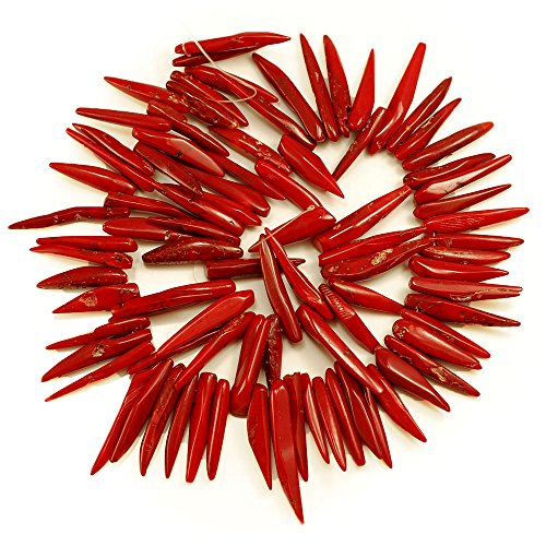 - 01 Sea Red Coral Chili 16-30mm for beading supplies Loose Beads 15