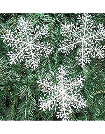 20 Paquetes con 60 Piezas De Copos Nieves para árbol De Navidad Colgantes Adornos cm Blanco