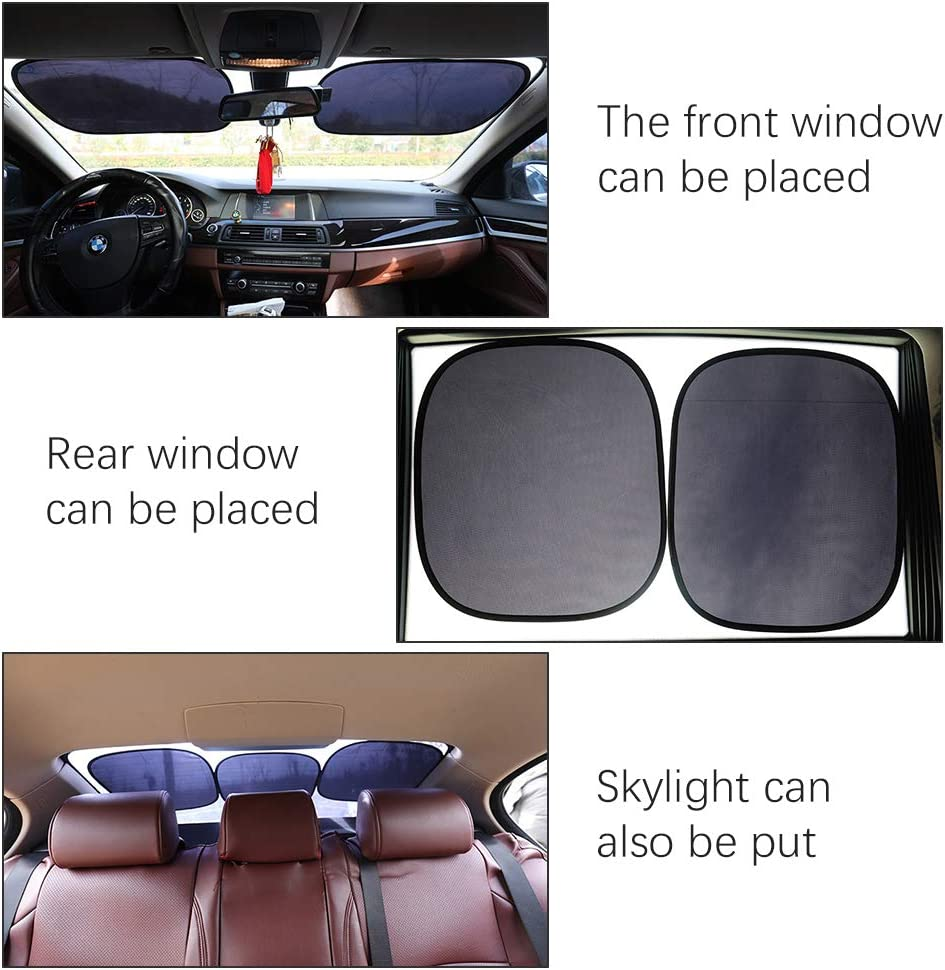 2 Pack Child Clings Sunshade for Car Side Window Sun Auxsoul Car Window Shade Glare and UV Rays Protection for Baby