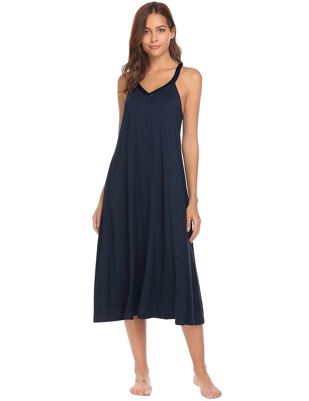 fc7cced0a Adidome Womens Short Sleeve Nightshirt Loose Cotton Nightgown Sleep Dress  S-XXL