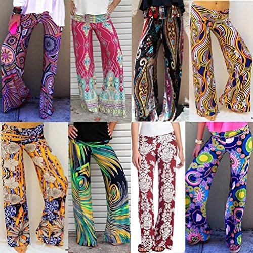 Moda Donna Tempo Autunno Colour Primaverile Nahen Taille Libero Pantalone Pantaloni 12 Grazioso Eleganti Larghi Women Vintage Colpo Giovane Stampato 5wXqxBCtOn