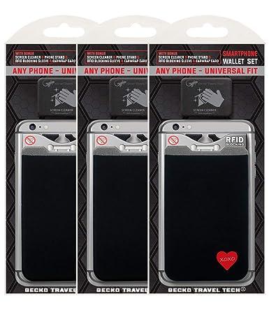 Amazon.com: Pack de 3 fundas para tarjetas de crédito ...