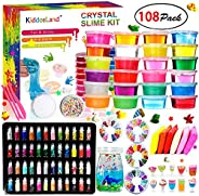 DIY Crystal Slime Kit – Slime kits for Girls Boys Toys with 48 Glitter Powder,Clear Slime Supplies for Kids Art Craft,Includ
