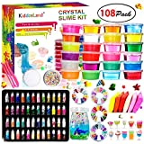 DIY Crystal Slime Kit - Slime kits for Girls Boys Toys with 48 Glitter Powder,Clear Slime Supplies for Kids Art Craft,Includes Air Dry Clay, Fruit Slice and Tools,Squeeze Stress Relief Toy (24 Colors): more info
