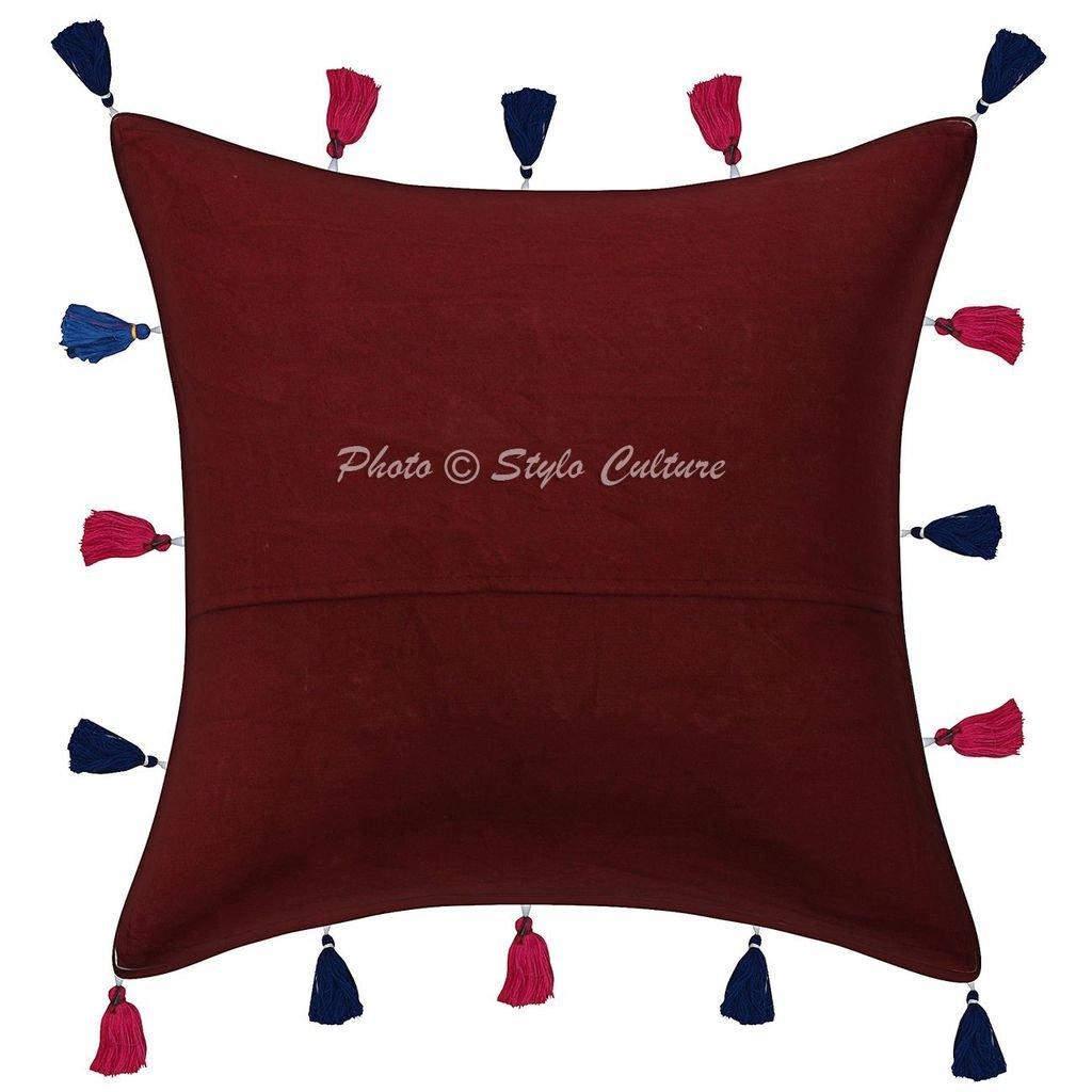 Amazon.com: Stylo Culture Cotton Patchwork Kodi Tassels ...