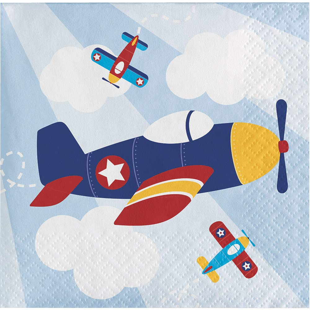 Pack of 192マルチカラーLil ' Flyer飛行機使い捨てParty Beverage Napkins 5