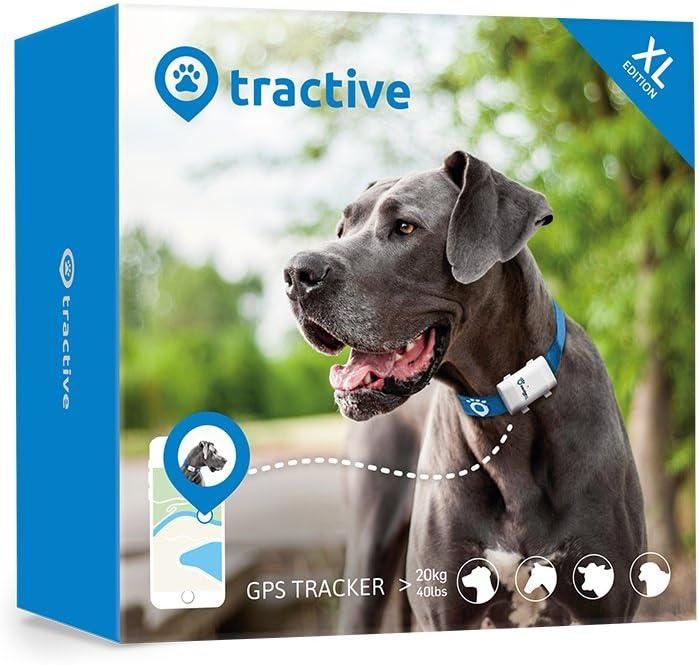 Tractive Localizador GPS XL para perros - batería dura hasta 6 semanas, rango ilimitado