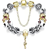 Meilanty Argento bracciale placcato 20cm - donne braccialetti con charms