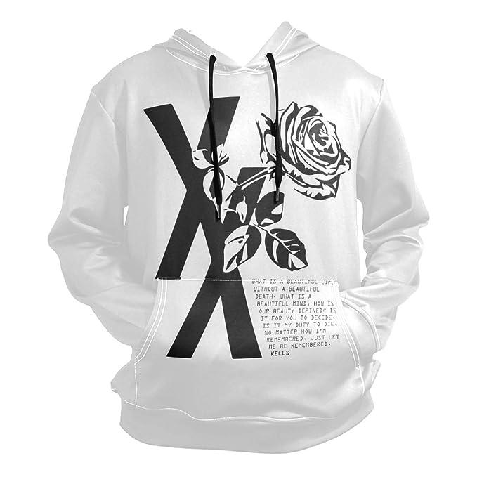 a43f7fd46d4ddf Nydia Hoodie,MGK T XX Shirt Flower Black Rose,Black,Men Women Boy Girl Kid  Youth,Unisex Hoodie: Amazon.ca: Clothing & Accessories