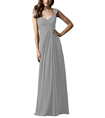 d318ae6872 Image Unavailable. Image not available for. Color  Pretygirl Women s  Elegant Sleeveless Pleated Chiffon Bridesmaids ...