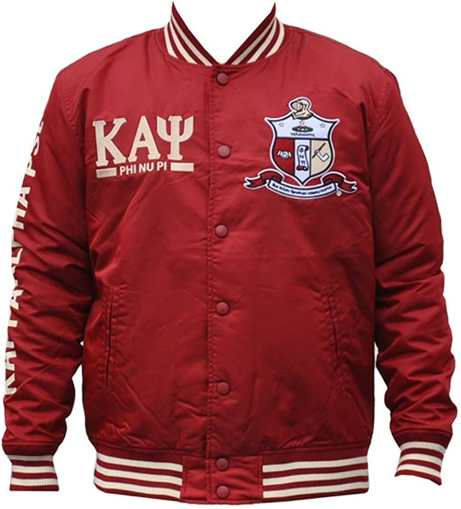 Kappa Alpha Psi Fraternity Mens Lightweight Jacket Crimson Red